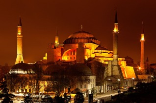 hagiasophia at night