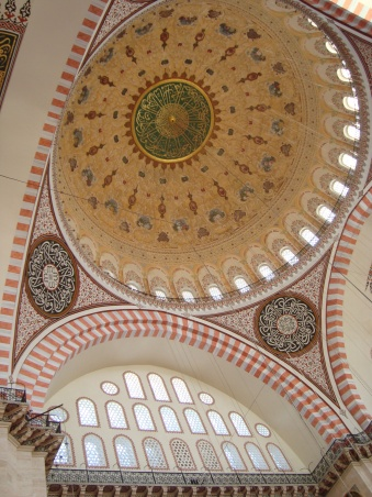 Suleymaniya Msoque, Interior, Dome & Pendantives, 1550's