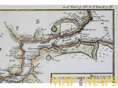 bosporus-constantinople-antique-map-barbie-du-bocage-1784