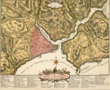 Konstantinopel / Landkarte 1752 - Constantinople / Map / 1752 -