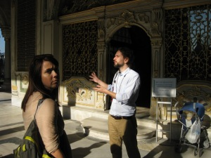 me; at work in my office (Topkapi Palace!)
